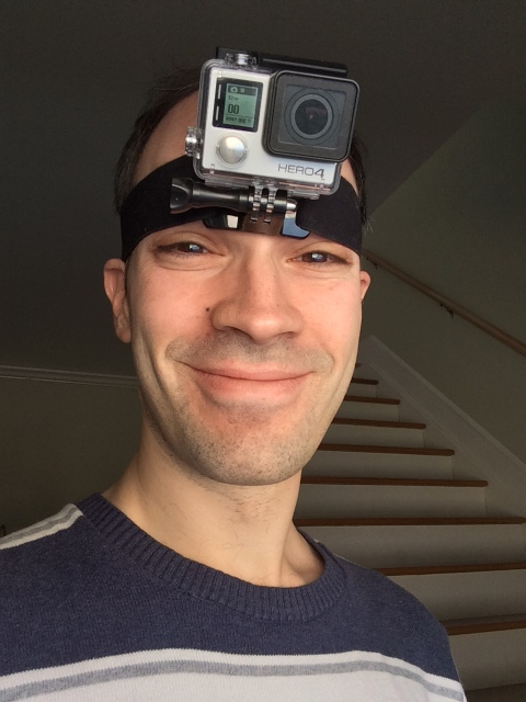 Scott with GoPro on head