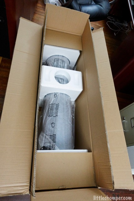 Telescope packed in box